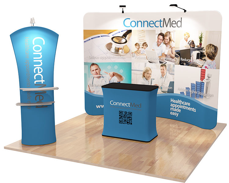 Trade Show Booth Banners : Fabric tension booth kits mega grafix